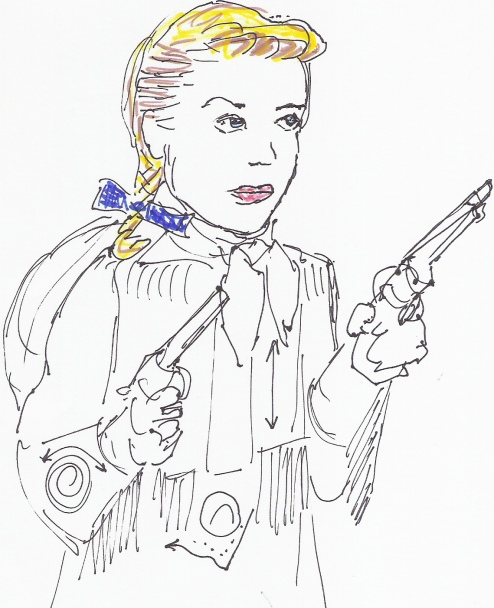 Annie Oakley Coloring Page Gail2