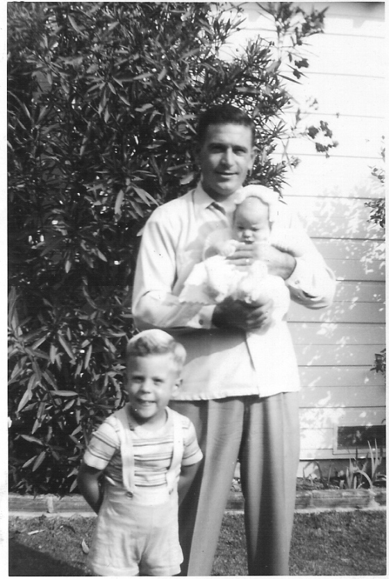 "My parents' union was ""blessed"" first with the arrival of my brother, Tim, in 1943 and then with me in 1947.  Get a load of the noggin on that baby!"