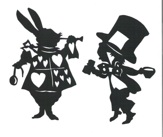 white rabbit and hatter