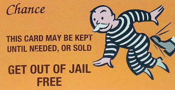 Image result for get out jail free card