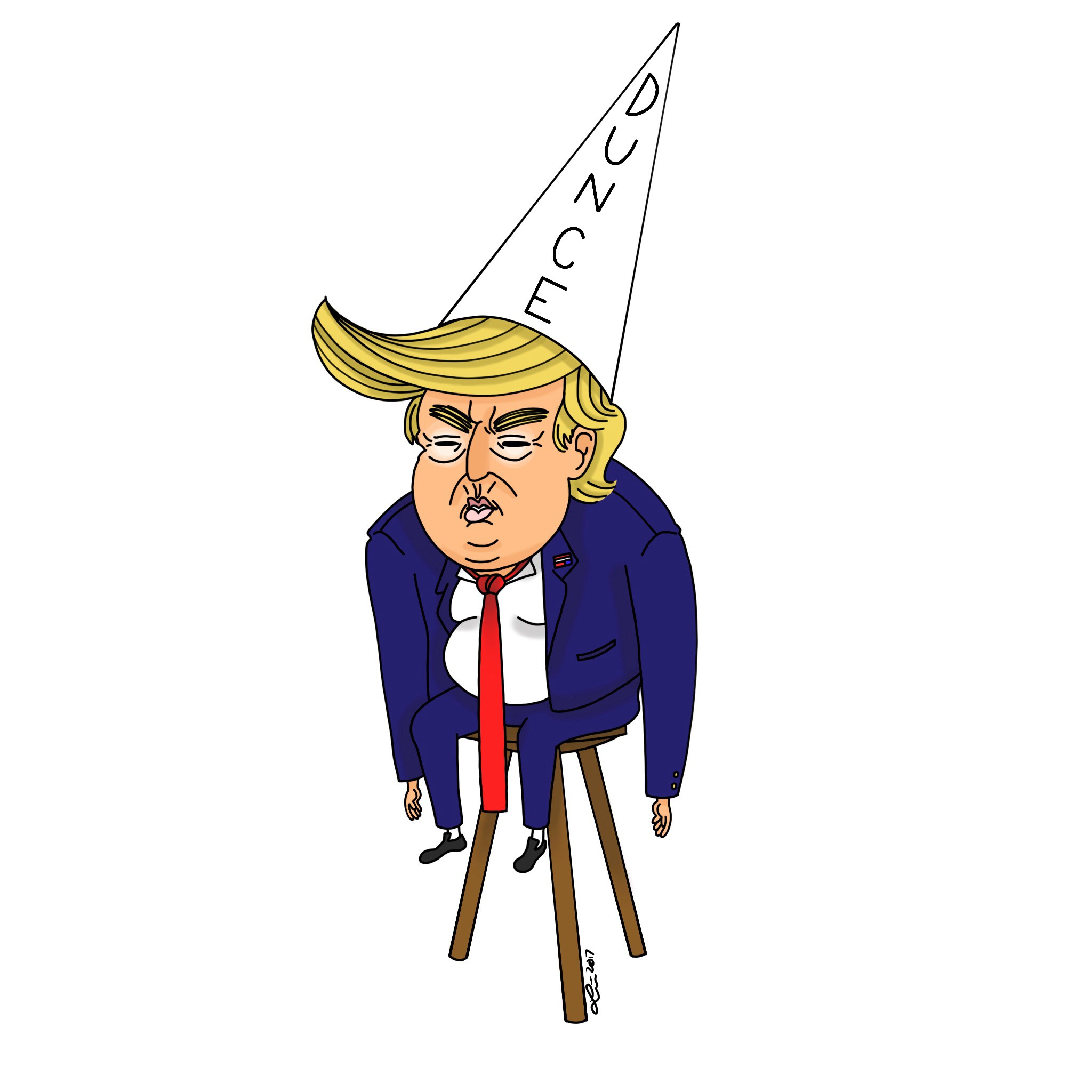 Donald in the Dunce Chair Again. Donald Trump is in the dunce ...